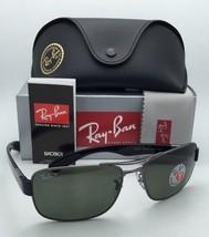 New Ray-Ban Polarized Sunglasses RB 3522 004/9A Gunmetal Aviator Frames w/ Green