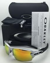 OAKLEY Flak 2.0 Sunglasses OO9295-02 Silver & Black Frames w/Fire Iridium Lenses
