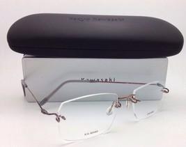 New KAZUO KAWASAKI Eyeglasses MP 631 03 53-19 Rimless Titanium Bronze Frames