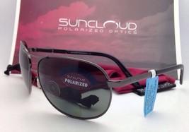 SUNCLOUD POLARIZED OPTICS Sunglasses AVIATOR Gunmetal w/ Grey +2.0 READER Lenses