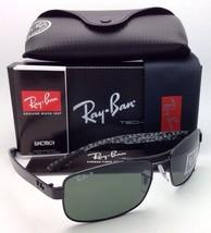 New POLARIZED RAY-BAN Tech Series Sunglasses RB 8316 002/N5 62-18 Black w/Green