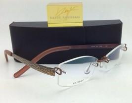 a9609e39de89 Kazuo Kawasaki Titanium Eyeglasses 704 Duo SF099 50 Rimless Brown Snake  Frames -  399.99