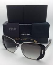 New PRADA Sunglasses SPR 59S 1AB-0A7 54-16 Silver & Black Frame w/ Grey Gradient