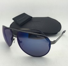 New Sunglasses CARRERA 102/S R80XT 65-11 Dark Ruthenium Frame w/Blue Mirror Lens