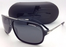 New POLARIZED Sunglasses CARRERA COOL/S CSA RA 65-12 Black Aviator Frame w/ Gray