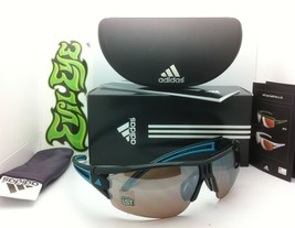 ADIDAS Sunglasses EVIL EYE HALFRIM A402/00 6059 Shiny Black Blue w/ LST Contrast