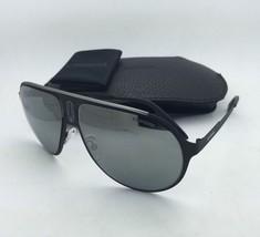 New Sunglasses CARRERA CHAMPION/MT 003T4 Aviator Matte Black Frame w/Grey+Mirror