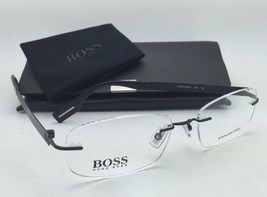 New HUGO BOSS Eyeglasses 0299/U 003 52-17 Rimless Matte Black/Shiny Black Frames