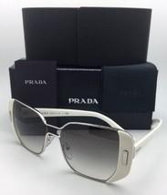 New PRADA Sunglasses SPR 59S USB-0A7 54-16 Silver-Ivory White Frame w/ Grey Fade