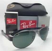 New Ray-Ban Sunglasses RB 3509 004/71 63-15 Gunmetal & Black w/ Green lenses