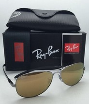 Ray-Ban TECH Sunglasses RB 8301 004/N3 Gunmetal Aviator Frame w/ Polarized Brown
