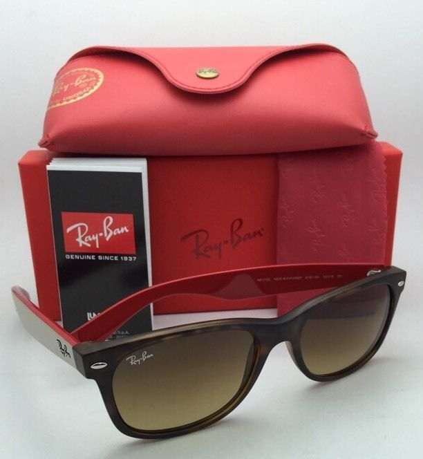 New Ray-Ban Sunglasses RB 2132 6181/85 55-18 NEW WAYFARER Havana Frame w/ Brown
