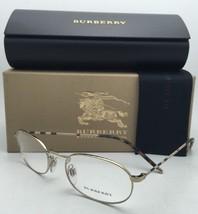 New BURBERRY Eyeglasses B 1273 1145 52-19 135 Gold Plaid & Tortoise Frames