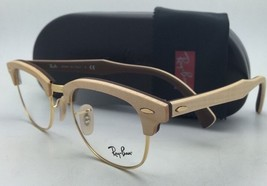 RAY-BAN CLUBMASTER Rx-able Eyeglasses RB 5154-M 5558 Maple Wood on Brown Frames