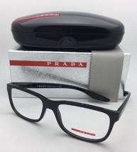 PRADA Sport Eyeglasses VPS 02G UB7-1O1 56-17 Shiny Black Gradient Matte Black