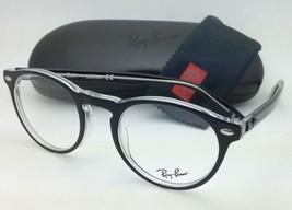 New RAY-BAN Eyeglasses ICONS RB 5283 2034 49-21 Black & Clear w/ Demo lenses