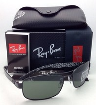 New RAY-BAN Tech Series Sunglasses RB 8316 002 62-18 Black Aviator Frame w/Green