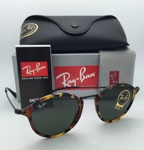 New Ray-Ban Sunglasses ICONS RB 2447 1157 49-21 Black & Tortoise Frame w/ Green