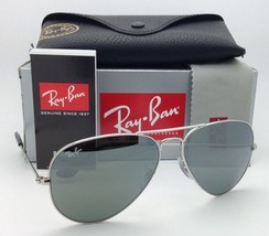 New Ray-Ban Sunglasses RB 3025 W3277 LARGE METAL Silver with Grey Mirror Lenses