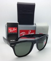 Polarized RAY-BAN Sunglasses FOLDING WAYFARER RB 4105 601/58 54-20 Black w/Green