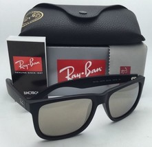 Ray-Ban Sunglasses JUSTIN RB 4165 622/5A 54-16 Rubber Black Frame w/ Gold Mirror