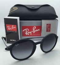 New Ray-Ban Sunglasses RB 4222 622/8G 50-21 Black Rubber Frame w/ Grey Gradient
