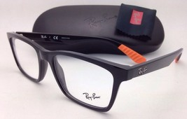 New RAY-BAN Rx-able Eyeglasses RB 7025 5417 55-17 Black Frames with Demo Lenses