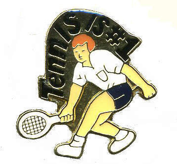 12 Pins - TENNIS IS #1 , player hat lapel pin #367