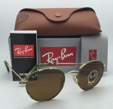 Ray-Ban Sunglasses ROUND METAL RB 3447-J-M 169 Green Camouflage & Gold w/ B-15