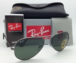 New Ray-Ban Sunglasses AVIATOR LARGE METAL RB 3025 W0879 Gunmetal Frame w/ Green