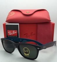 New Ray-Ban Sunglasses NEW WAYFARER RB 2132 6182 52-18 Black Frame w/ Green Lens