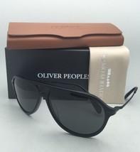 Polarized Oliver Peoples Sunglasses Braedon Ov 5340SU 1465P2 Matte Black w/ Grey - $484.95