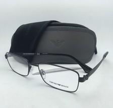 New Emporio Armani Eyeglasses EA 1021 3001 53-17 140 Matte Black & Black Frames