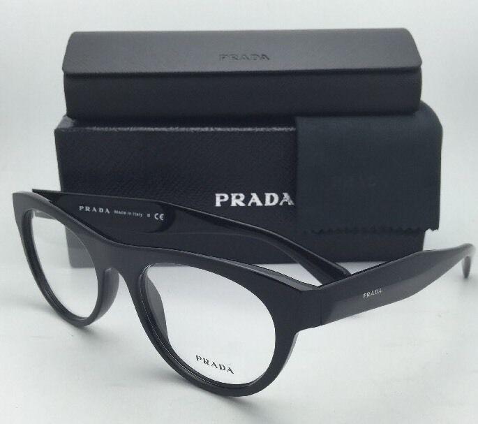 df31207a091a S l1600. S l1600. Previous. New PRADA Eyeglasses VPR 02Q 1AB-1O1 52-19 140  Black Frame w  · New PRADA Eyeglasses ...