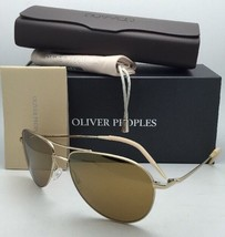 New OLIVER PEOPLES Sunglasses BENEDICT OV 1002S 5035W4 Gold Aviator w/ Mirror
