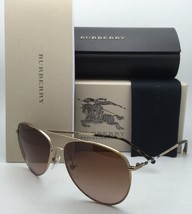 New BURBERRY Sunglasses B 3072 1145/13 57-14 Gold Aviator Frame w/Brown Gradient - $249.95