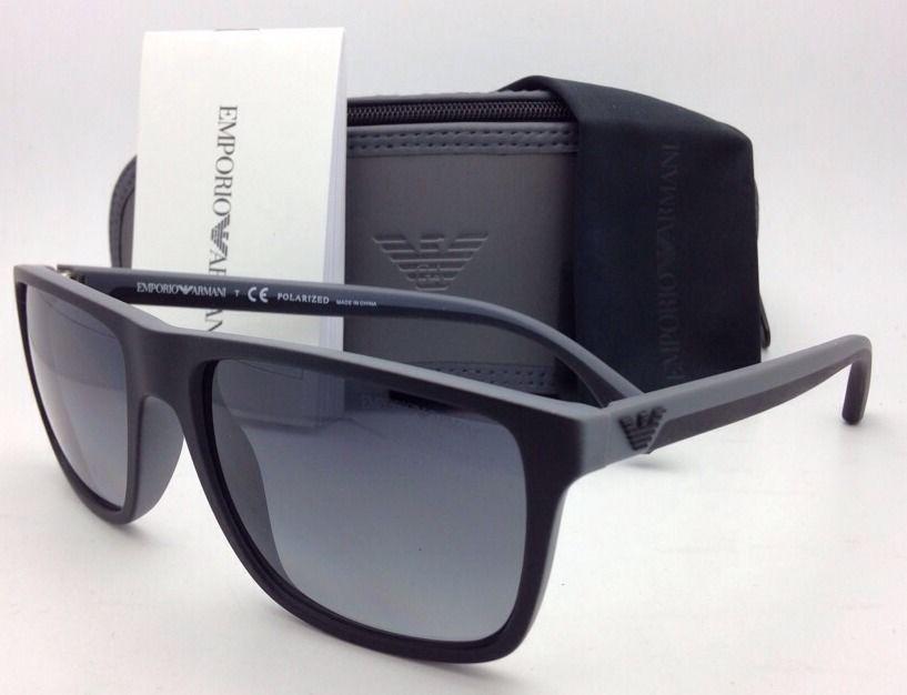 3339e6ae0653 S l1600. S l1600. Previous. New EMPORIO ARMANI Polarized Sunglasses EA 4033  5229 T3 Black Grey Rubber Frames