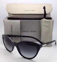New GIORGIO ARMANI Sunglasses AR 8033 5017/87 Black Cat-Eye Frame w/ Gre... - $229.95