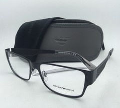 New Emporio Armani Eyeglasses EA 1022 3001 55-16 Matte Black Frames w/ Clear