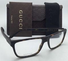 New GUCCI Eyeglasses GG 1024 IPW 54-15 145 Matte Dark Havana Tortoise Frames