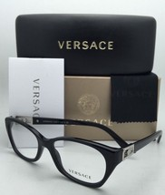 New VERSACE Rx-able Eyeglasses VE 3170-B GB1 Black & Silver Frames w/ Crystals