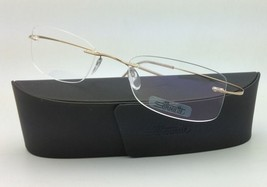 New SILHOUETTE Eyeglasses TITAN MINIMAL ART 7799 6051 Gold 52-21 150 Dem... - $265.95