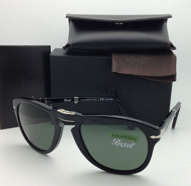 a4909cfdd46 New PERSOL Black Folding Sunglasses 714 and 39 similar items. S l1600