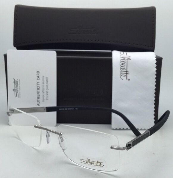 Primary image for SILHOUETTE Eyeglasses CARBON INTARSIA 5402 60 6052 23K Gold Plated Grey & Black