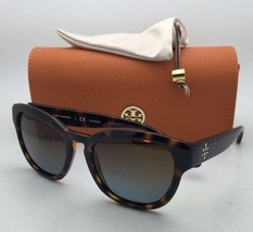 New TORY BURCH Sunglasses TY 9040 13781F Tortoise Frame w/ Brown To Grey Lenses
