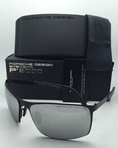New PORSCHE DESIGN Sunglasses P'8566 F Matte Black Frames w/Grey & Silver Mirror