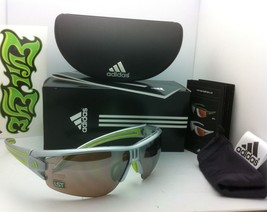 New ADIDAS Sunglasses EVIL EYE HALFRIM A402/00 6058 Silver & Lime w/LST Contrast