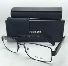 New PRADA Eyeglasses VPR 53R LAH-1O1 54-17 Matte Brown Frames w/ Spring Hinges