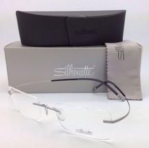 229eeabed7 New Silhouette Titan Minimal Art Rimless Eyeglasses 7579 6061 7581  Silver Black -  299.95