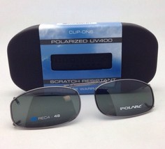 COCOONS Gray Polarized Sunglasses/Eyeglasses Over Rx Clip-on REC 4-48 Gu... - $49.95